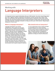 Working with Language Interpreters: Information for Parents or Guardians