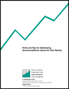 Hints and Tips for Addressing Accommodations Issues for Peer Review
