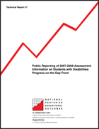 Public Reporting of 2007-2008 Assessment Information on Students with Disabilities: Progress on the Gap Front (#57)