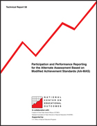 Participation and Performance Reporting for the Alternate Assessment Based on Modified Achievement Standards (AA-MAS) (#58)