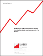 An Analysis of Accommodations Issues from the Standards and Assessments Peer Review (#51)