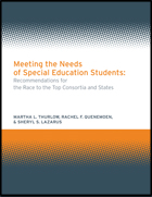 Meeting the Needs of Special Education Students: Recommendations for the Race-to-the-Top Consortia and States
