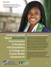 Lessons Learned About Instruction from Inclusion of Students with Disabilities in College and Career Ready Assessments