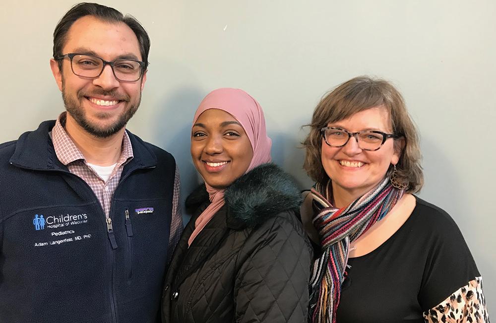 Left to right: MNLEND Fellows Adam Langenfeld, Muna Khalif, and Jennifer Reiter.