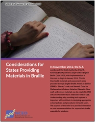 Considerations for States Providing Materials in Braille (#19)