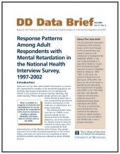 Response Patterns Among Adult Respondents with Mental Retardation in the National Health Interview Survey, 1997-2002