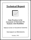 State Practices in the Assessment of Outcomes for Students with Disabilities (#1)