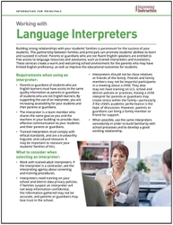 Working with Language Interpreters: Information for Principals