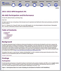 2016-2017 APR Snapshot #21: AA-AAS Participation and Performance (#21)