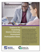 Guidance for Examining District Alternate Assessment Participation Rates