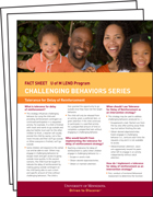 LEND Fact Sheet Series: Challenging Behaviors