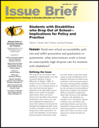Students with Disabilities who Drop Out of School: Implications for Policy and Practice