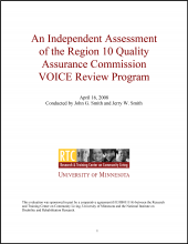 An Independent Assessment of the Region 10 Quality Assurance Commission Voice Review Program