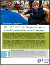 10 Reasons to Support Inclusive School Communities for ALL Students (#1)