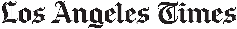Logo of the Los Angeles Times.