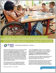 Taking the Alternate Assessment Does NOT Mean Education in a Separate Setting! (#2)
