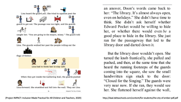 An example adapted text where small, simple, descriptive images have been embedded in the text directly above keywords.
