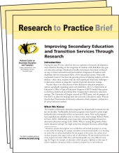 NCSET Research to Practice Brief