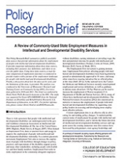A Review of Commonly-Used State Employment Measures in Intellectual and Developmental Disability Services