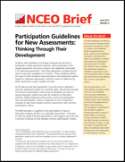 Participation Guidelines for New Assessments: Thinking Through Their Development (#3)