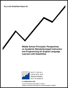 Middle School Principals' Perspectives on Academic Standards-Based Instruction and Programming for English Language Learners with Disabilities (#22)