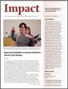 Feature Issue on Supporting New Career Paths for People with Intellectual and Developmental Disabilities
