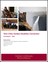 Twin Cities and Zambia Disability Connection - Final Report