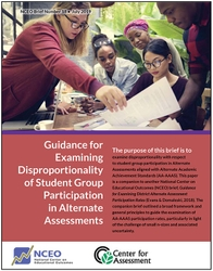 Guidance for Examining Disproportionality of Student Group Participation in Alternate Assessments (#18)