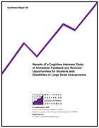 Results of a Cognitive Interview Study of Immediate Feedback and Revision Opportunities for Students with Disabilities in Large Scale Assessments (#92)