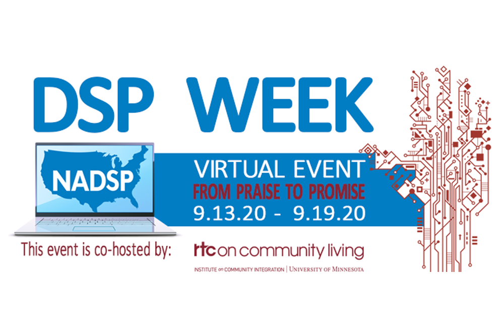 Logo of the DSP Week virtual event.