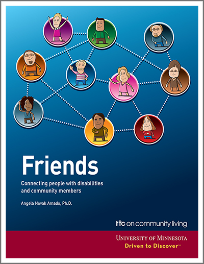 cover of friends manual. it shows many different people connected together by a dotted line.