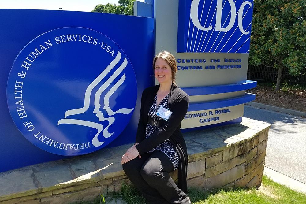 ICI's Jennifer Hall-Lande at CDC headquarters in Atlanta, GA.