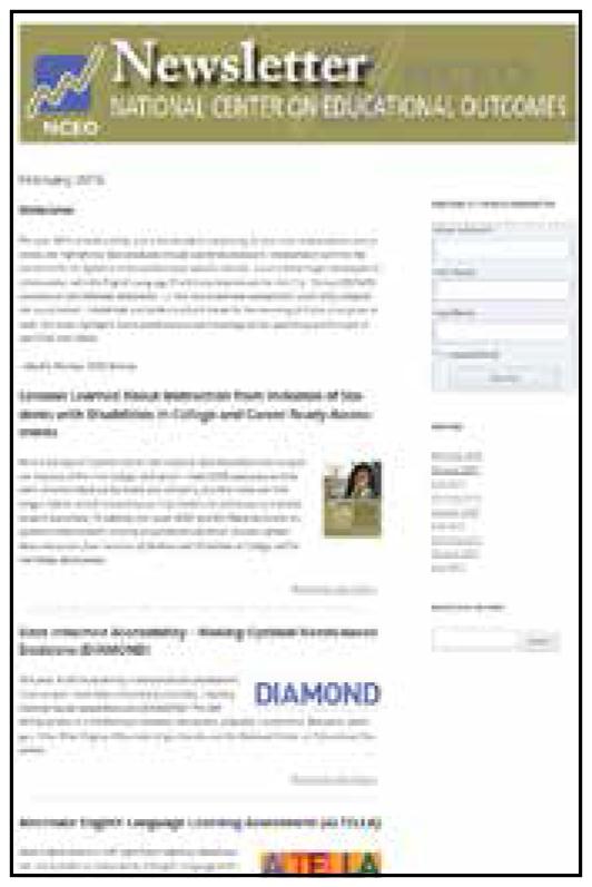 Feb 2016 Newsletter cover