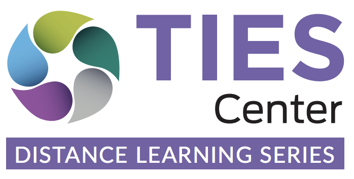 TIES Center Distance Learing Series Logo